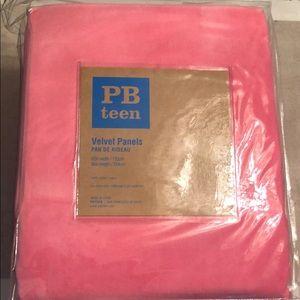 2 Pottery Barn Teen 52x96 pink velvet panels